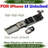 Neue Ankunft 100% Original Motherboard Für iPhone 5S Entsperrt Mainboard Mit IOS Logic Board Volle Funktion Kostenloser Versand-in Handy-Antennen aus Handys & Telekommunikation bei
