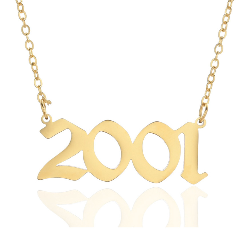 Personalized Wedding Date Necklace Anniversary Jewelry 2001 2002 2003 2004 2005 2006 2007 2008 Custom Birth Year Necklaces BFF