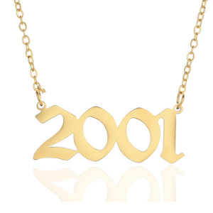 Image 1 - Personalized Wedding Date Necklace Anniversary Jewelry 2001 2002 2003 2004 2005 2006 2007 2008 Custom Birth Year Necklaces BFF