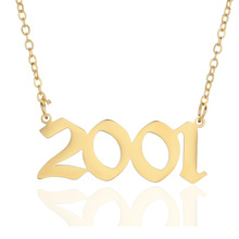 Spersonalizowany ślub data naszyjnik biżuteria rocznicowa 2001 2002 2003 2004 2005 2006 2007 2008 na zamówienie rok urodzenia naszyjniki BFF