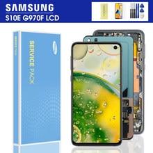 5.8 ''orijinal S10e SAMSUNG Galaxy S10 E G970F/DS G970W G970U SM-G9700 LCD ekran dokunmatik ekran sayısallaştırıcı değiştirme