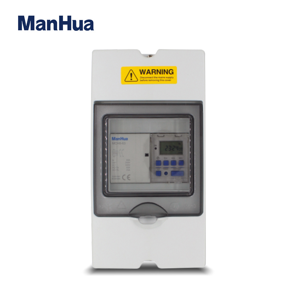 ManHua 17 ON/OFF Single Phase MT151C-63 With Water Proof IP65 Digital Timer Switch Control Box