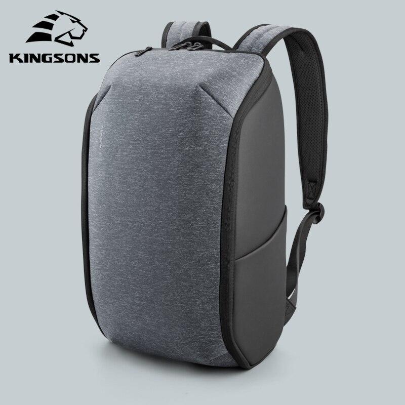 Kingsons Laptop Backpack Men Collapsible 15 Inch Multifunction Waterproof Travel Backpacks Anti-thief Male School Bags Hot