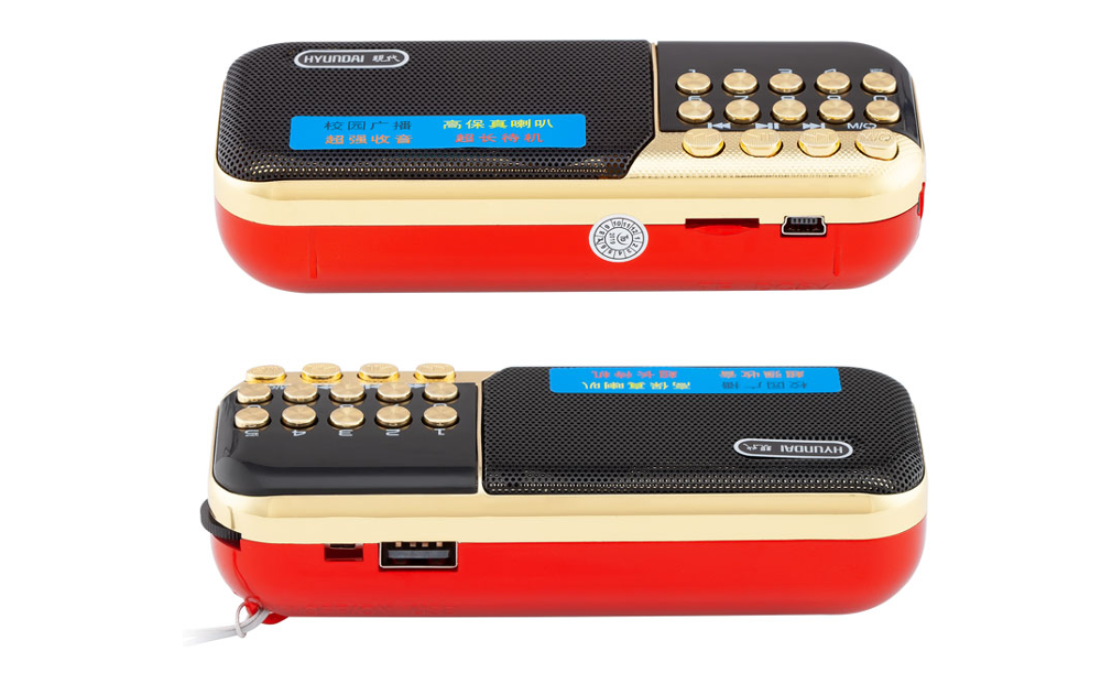 Pocket Radio FM Radio Ontvanger Mini Draagbare Oplaadbare Radio Ontvanger Speaker Ondersteuning Tf-kaart Muziek MP3 Speler