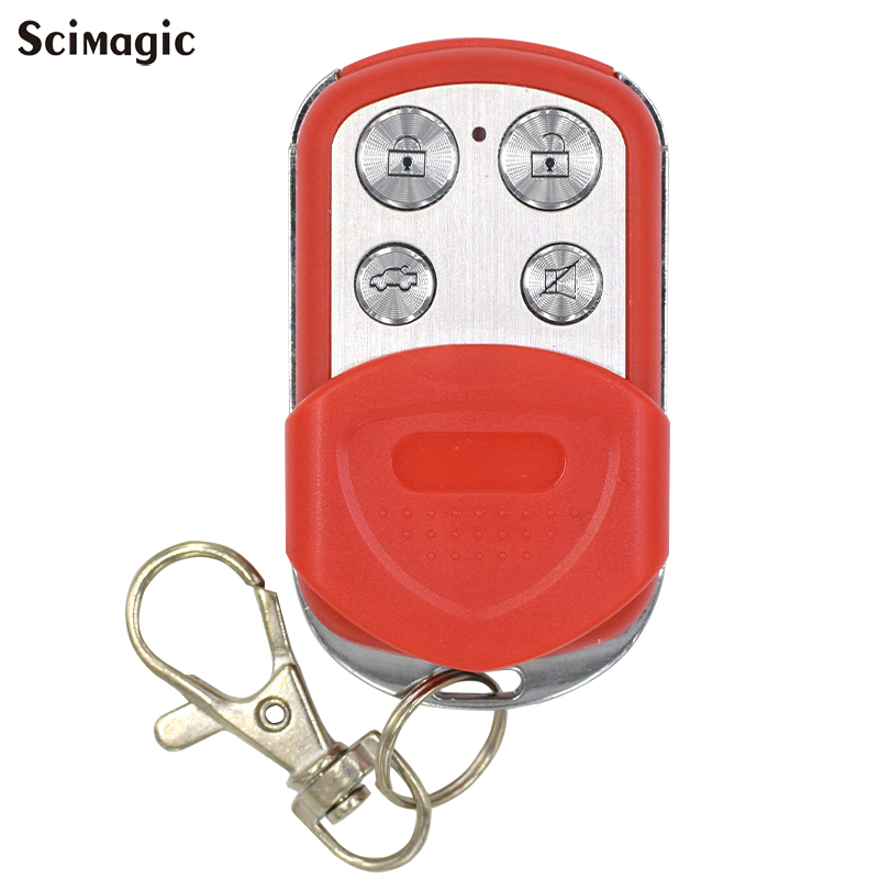 Portable Wireless 433.92 Mhz Remote Control Copy Code Remote 4 Channel Electric Cloning Gate Garage Door Auto Keychain