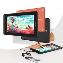 Huion 11.6 polegadas kamvas 12 tablet monitor 120% sr anti-reflexo tilt suporte gráfico desenho caneta display monitor com bateria-livre caneta