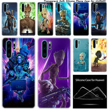 Силиконовый чехол Marvel guardiers of the Galaxy Groot для huawei NOVA 3 3i 5 5i P20 P30 Pro P9 P10 P8 Lite 2017 P Smart Z Plus 2019(China)