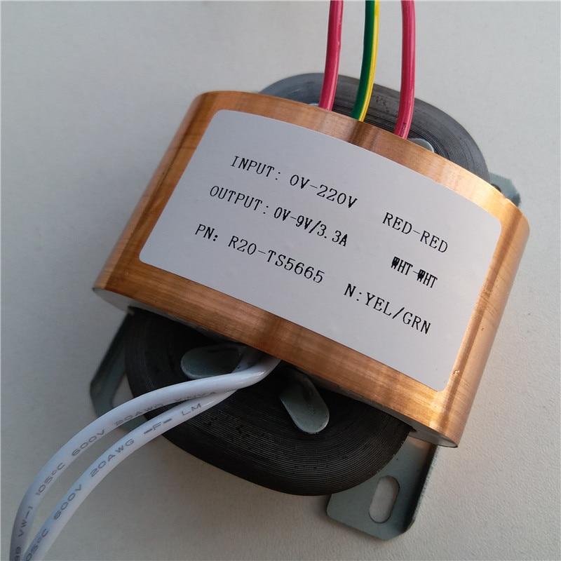 9 v 3 3a transformador r nucleo r20 personalizado transformador 220 v 30va escudo de cobre