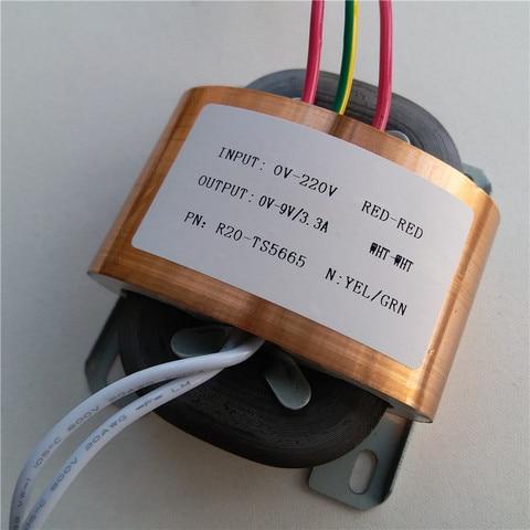 9 v 3 3a transformador r nucleo r20 personalizado transformador 220 v 30va escudo de
