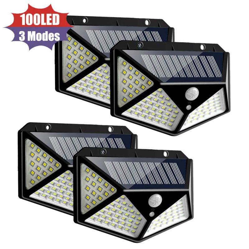 100 Led Solar Light Pir Motion Sensor Outdoor Solar Lamp IP65 Waterdichte Wandlamp Solar Zonlicht Aangedreven Tuin Straat Licht