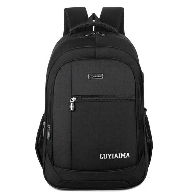 Men's backpack Unisex Waterproof Oxford 15 Inch Laptop Backpacks Casual Travel Boys Student School Bags Large Capacity Hot Sale 5