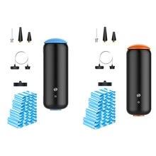 Vacuum Storage Air Pump Compression Machine,Reusable Saver Sous Vide Bag for Clothes Mattress Food 17 Pcs