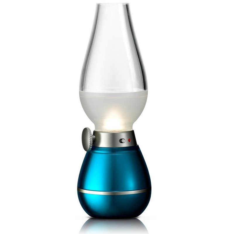 Retro Style Led Kerosene Lamp Blowing Control Lamp Desk Lamp Dimmable Usb Rechargeable Night Light Home Decoration