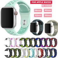 Serie 1/2/3/4 Gummi Silicon Sport Band für Apple Uhr strap-armband 38mm 42mm 40mm 44mm blet Für iwatch armband