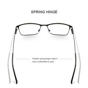 Image 3 - MERRYS デザイン男性高級チタン合金光学メガネ男性超軽量目近視遠視処方眼鏡 S2041