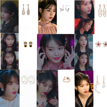 Crystal IU same Lee Ji Eun Eardrop temperament For Women Earrings pendientes brincos ornament цена в Москве и Питере