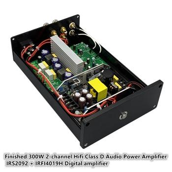 цена на L15D IRS2092 Finished 300W 2-channel Hifi Class D Audio Power Amplifier IRS2092 + IRFI4019H Digital speaker amplifiers