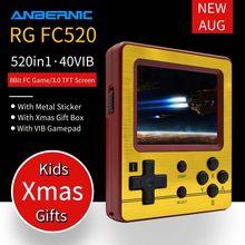 ANBERNIC-consola de juegos Retro de 8 bits para niños, Mini consola portátil con mando de juegos, FC VIB, RG FC520