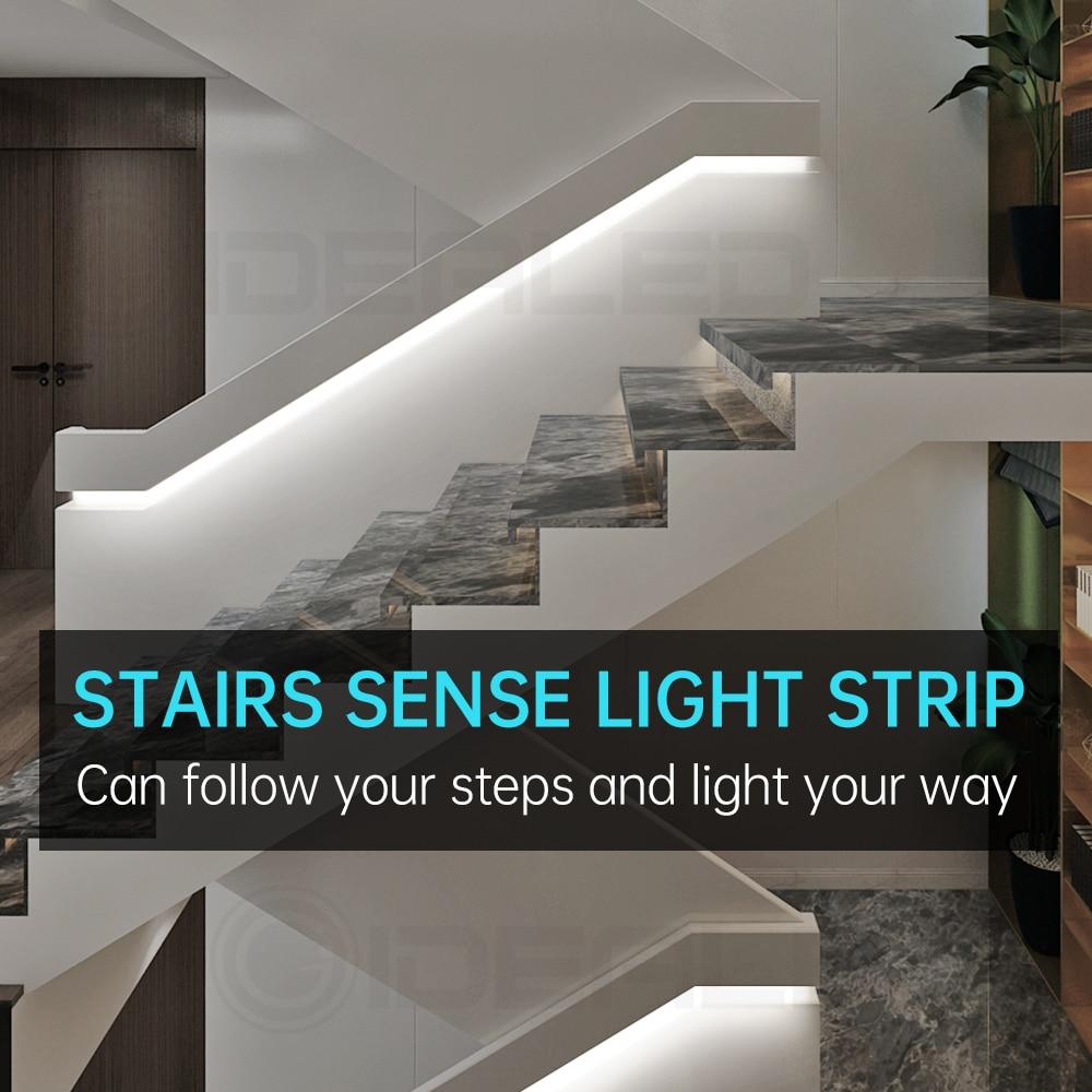 Пассивный инфракрасный датчик движения светильник полосы мини управление лестницы оптимизации под шкаф ночной Светильник прибор приемно-...