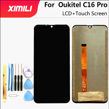 For Oukitel C16 Pro LCD Display and Touch Screen 5.71'' Digitizer Assemly For C16 Pro Phone Repair Parts With Tools And Adhesive for oukitel k6000 plus lcd display touch screen digitizer for oukitel k6000 plus display screen lcd phone parts free tools