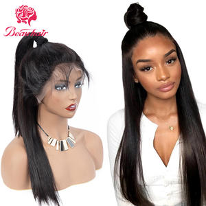 Human-Hair-Wig Lace-Frontal Wig10-24inch Brazilian 360 Straight with Remy Silky Pre-Plucked