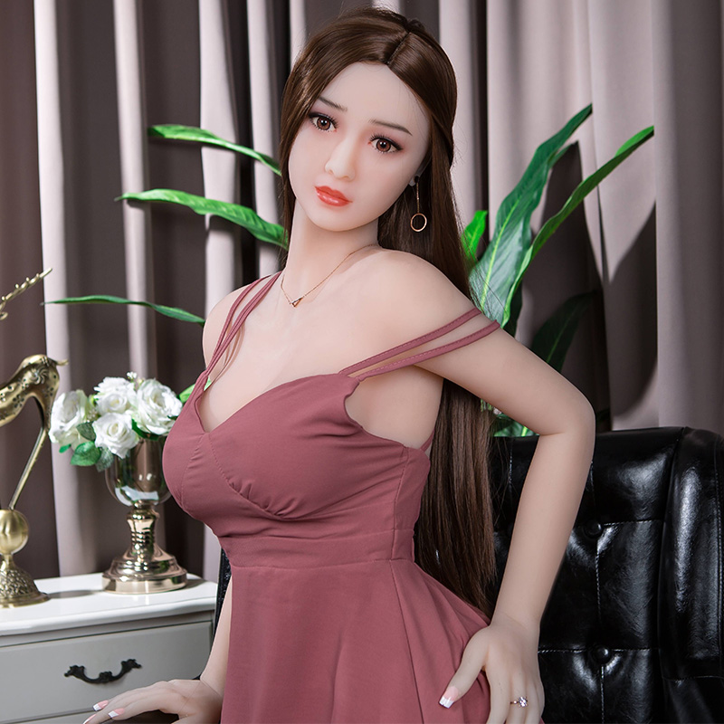 <font><b>165cm</b></font> New Real Big Sized Silicone <font><b>Sex</b></font> <font><b>Doll</b></font> Full <font><b>TPE</b></font> Material Realistic Girl Mannequins Vagina Anus Oral Love <font><b>Sex</b></font> Toys image