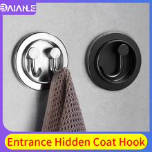 Robe Hooks Double Stainless Steel Bathroom Hook for Towels Key Hat Bag Clothes Hooks Wall Mounted Black Folding Coat Hook Rack robe hook stainless steel bathroom hook black hooks for hanging towels bag hat clothes coat hook wall hanger bath hardware