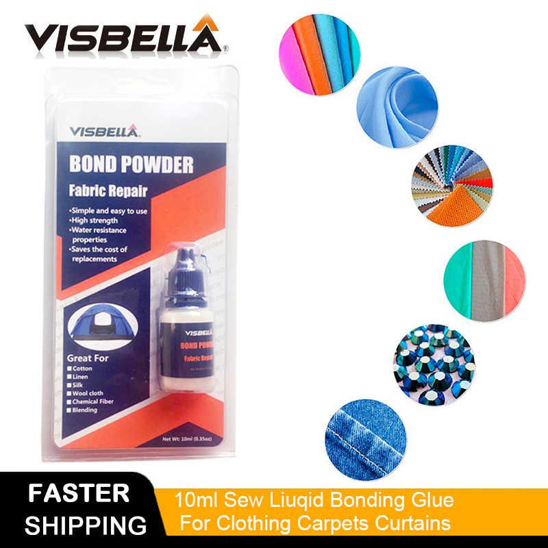 "Visbella בד אג""ח אבקת מכנסיים ג 'ינס מליטה תיקון יד כלי סטי דבק עמיד למים חומרי איטום בגדי שטיחי וילונות"