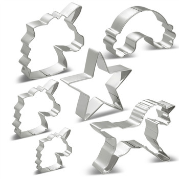 8 Styles Stainless Steel Mermaid Unicorn Head Cookie Cutter And a variety of Fondant Cutter Baking Cookie Mold Biscuit Mould ttlife unicorn animal cookie cutter stainless steel fondant cake baking mold sugarcraft chocolate pastry diy tools biscuit mould