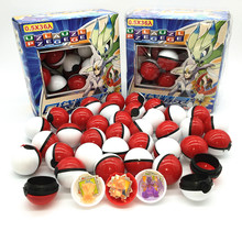 36 pçs pokeball + 36 peças figuras pokemon original brinquedos bola com figura modelo brinquedos para crianças com caixa