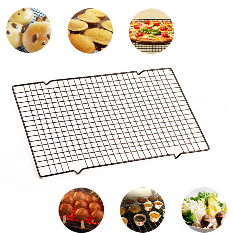 Stainless Steel Nonstick Carbon Cake Cooling Rack Fits Baking Pan Oven Roasting Cooking Grilling BBQ Dry Cooler Holder