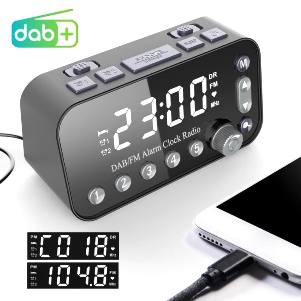 alarm clock FM Clock Radio For Car LED Alarm Clock+ FM Radio+Wireless bluetooth Speaker+2 USB Charger Dual Alarm Setting Car Radio (1)