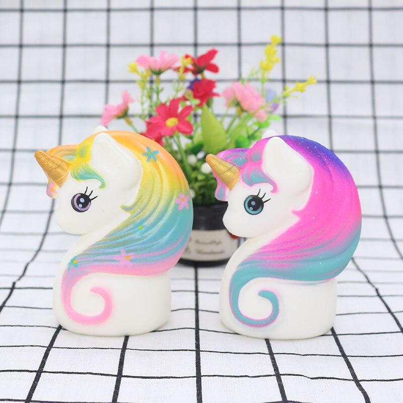 Kawaii Squishy Slow Rising Colorful Unicorn Squishy Slow Rising Unicorn Squeeze Antistress Toys For Children Kids Gifts