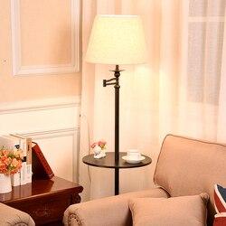 Lâmpada de led moderna nórdica, tecido e ferro e27, lâmpada de chão ajustável, para sala de estar, cabeceira da sala de estudo, hotel