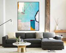 Abstract Painting Large Acrylic Canvas Wall Art Colorful And Playful Expressionism Modern Painting Wall Art On Canvas Tale III(China)