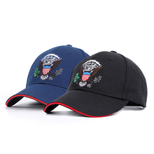 Spring 2019 New Eagle Embroidered Baseball Cap Fashion Hat Couple Duck Tongue Sunshade