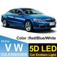 Luz de emblema para maletero de 11cm, accesorio para coche, lámpara de estilo automático, azul/blanco/rojo, 5D, para GOLF 6, MAGOTAN, CC, Tiguan, BORA, Scirocco