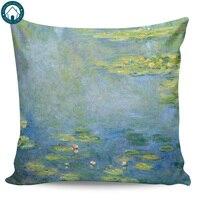 Lírios de água 1906 por claude monet padrão capas de travesseiro capa almofada fronha impressão quadrada Fronha     -