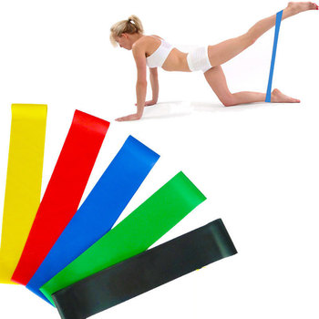 Yoga Resistance Bands Elastic Pilates Sport Training Exercises Fitness Workout Bands Loop Crossfit Gym Fitness Workout Equipment image