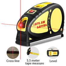 Mini Vertical Level Line Lasers Multipurpose Laser Horizon Vertical Measure Tape Aligner Bubbles Ruler Measuring Gauge Tool