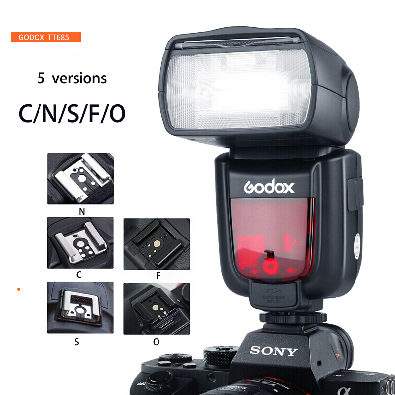 Godox TT685 Flash TTL HSS 1/8000s GN60 Camera Flash Speedlite Compatible For Canon Nikon Sony Fuji Olympus