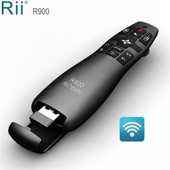 Rii R900 2.4G Wireless Air Mouse Presenter with Laser Pointer for Office PPT Android TV Box Mini PC IPTV