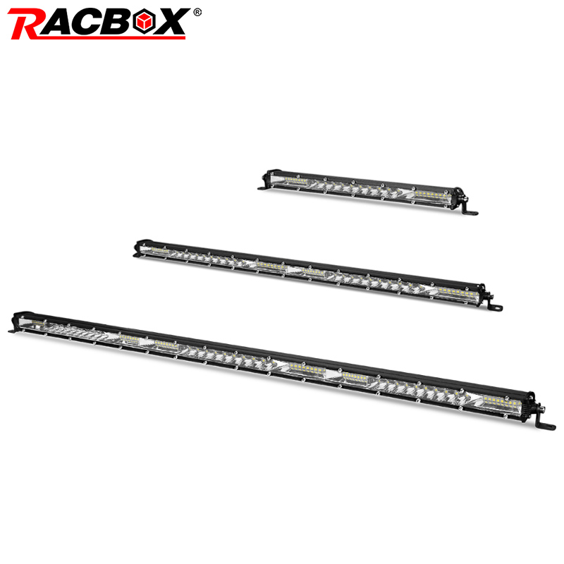 RACBOX 10 20 30 Inch LED Work Light Bar Combo 4x4 Offroad LED Light Bar For UAZ Tractor Boat 4WD 4x4 Off Road Trucks ATV 12V 24V