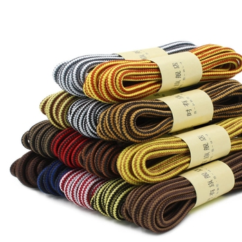 1 Pair Martin Shoes Round Shoe laces Striped Double Color Fashion Shoelaces Outdoor Hiking And Leisure Sports Shoe lace 18 Color