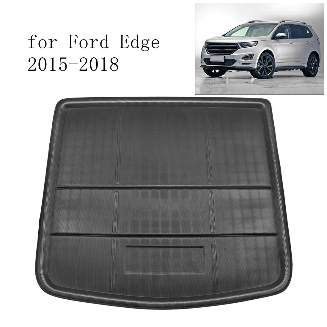 Image 2 - UXCELL Random Send PE+EVA Foam Black Rear Trunk Tray Boot Liner Cargo Car Floor Mat for Ford Edge 2007 TO 2018    -