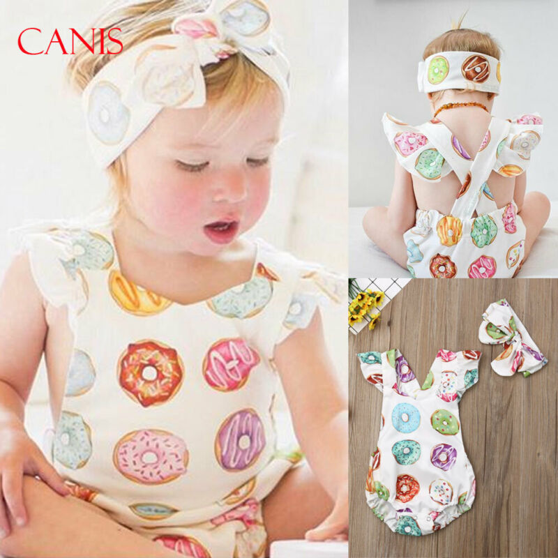 Baby Girl's Newborn Toddler Kids Floral Jumpsuit Outfits Sunsuit