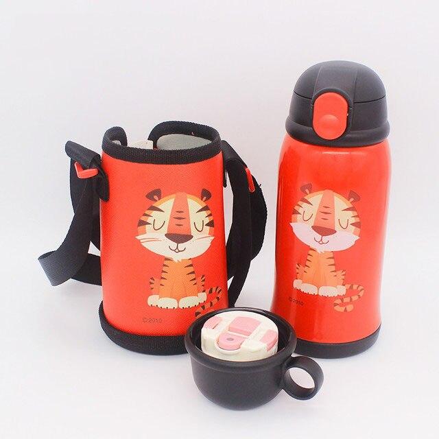 550ml bebe leao copo de alimentacao garrafa termica de leite de aco inoxidavel para criancas isoladas