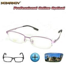 Custom Made Prescription Glasses Optical Photochromic Myopia Reading Classic Oval Purple Ladies Frame Men Women