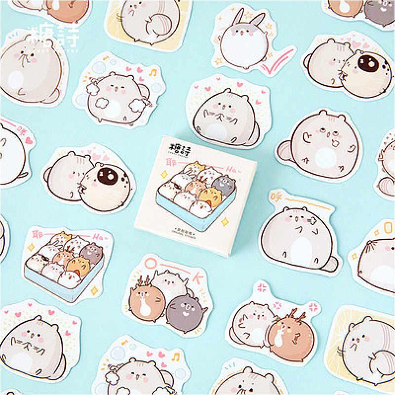 Vendita Calda Pratico Po 'Di Grasso Rat Cancelleria Autoadesivo Decorazione Della Carta Scrapbooking Sticker Kawaii di Cancelleria Regalo Materiale Escol