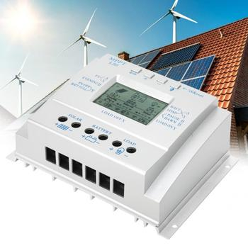 80A PWM Solar Charge Controller 12 24V Auto Solar Panel Charge Regulator With Load Timer With LCD Display MPPT Charge Control